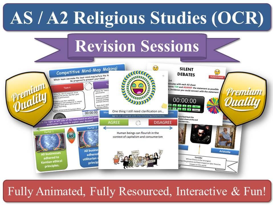 Hinduism AS/A2 Revision Sessions (x11) for KS5 OCR Religious Studies (New Spec) +BONUS RESOURCES!