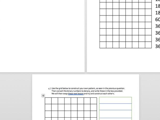 Denary and Binary Conversion homework task