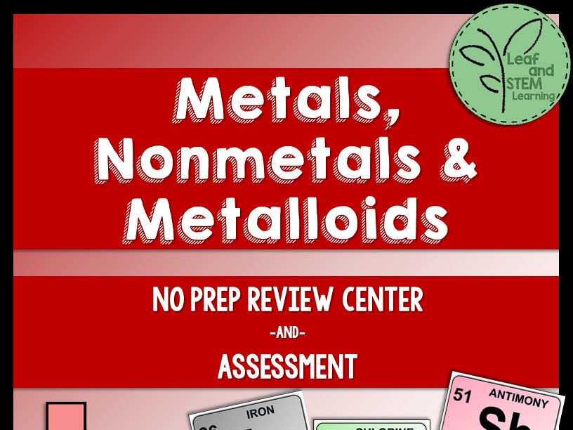 Metals, Nonmetals, and Metalloids Review Center and Assessment