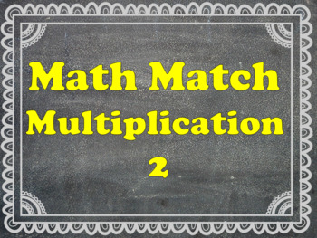 Math Matching Multiplication 9-15 times tables
