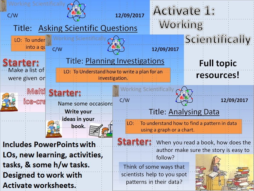 Activate 1; Working Scientifically Topic Resources