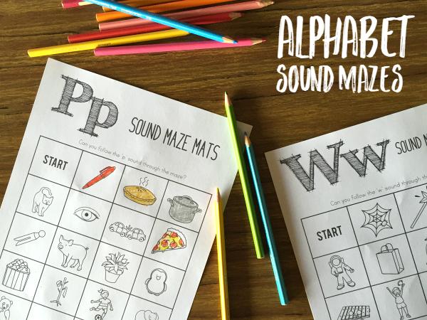 Alphabet Initial Sound Mazes