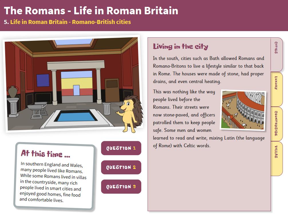 Romano-British Cities - Interactive Teaching Book - Roman Britain KS2