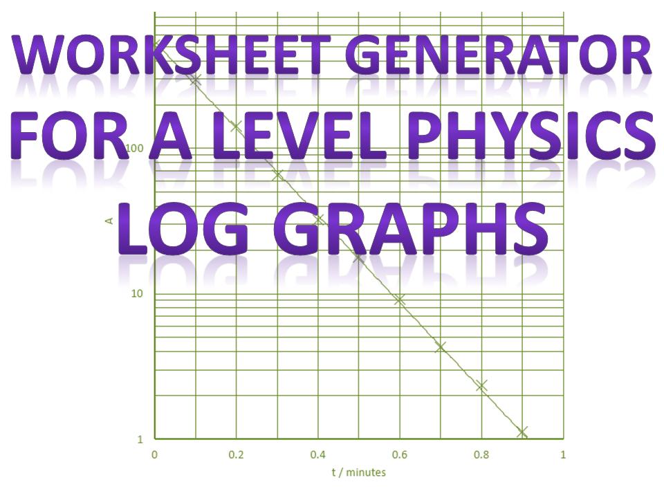 Log graph worksheet generator