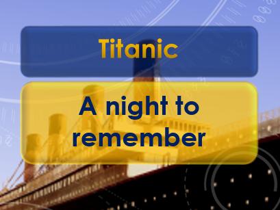 Remembering the Titanic (April 14-15 1912)
