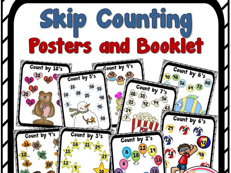 Skip Counting Posters and Booklet
