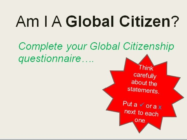 Lesson: Global Citizenship