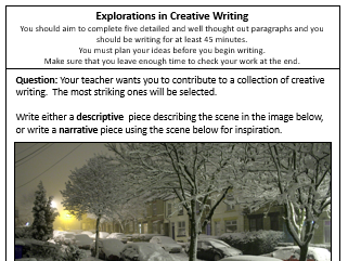 Explorations in Creative Writing Tasks