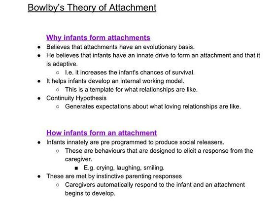Attachment Theory - John Bowlby by RoryLees-Oakes | Teaching