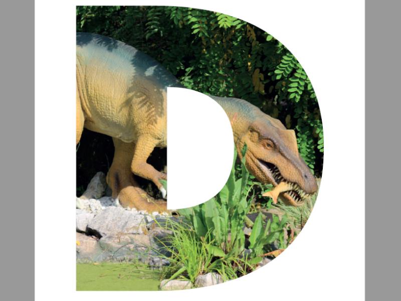Dinosaur display - lettering