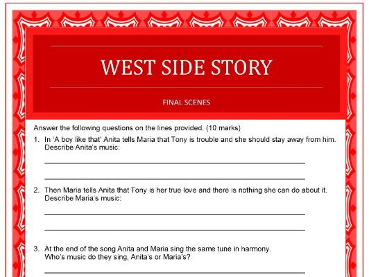 West Side Story questions about the final scenes of the film