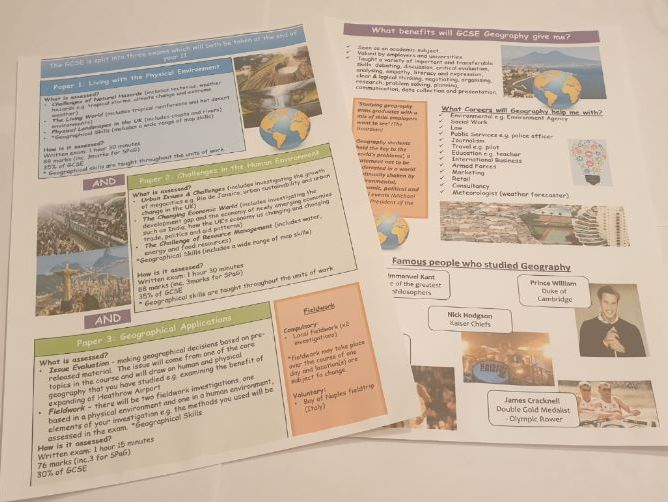 Option Evening Handouts for AQA GCSE Geography