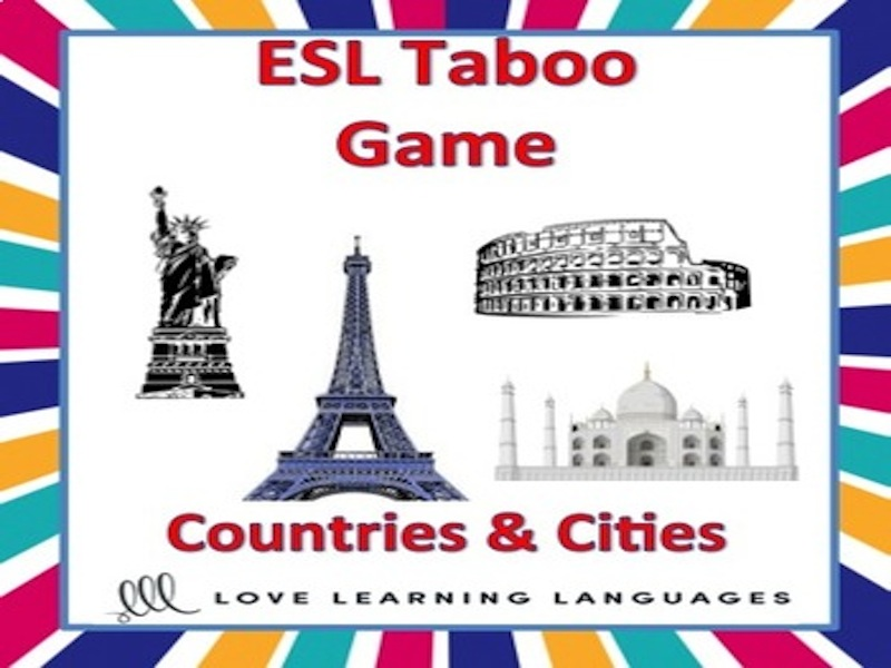 ESL Taboo Game, Countries and Cities