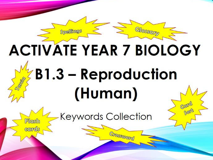 Activate Year 7 Biology - B1.3 Reproduction (Human) - Keyword Collection
