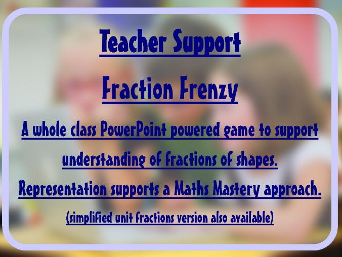 Fraction Frenzy Game - Recognising fractions of shapes