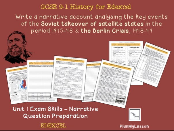 Edexcel  GCSE Superpower relations and the Cold War -  Unit 1 Narrative Question Exam Preparation