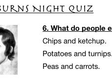 Burns Night Quiz