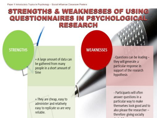 Poster - Questionnaires in Psychological Research Evaluation