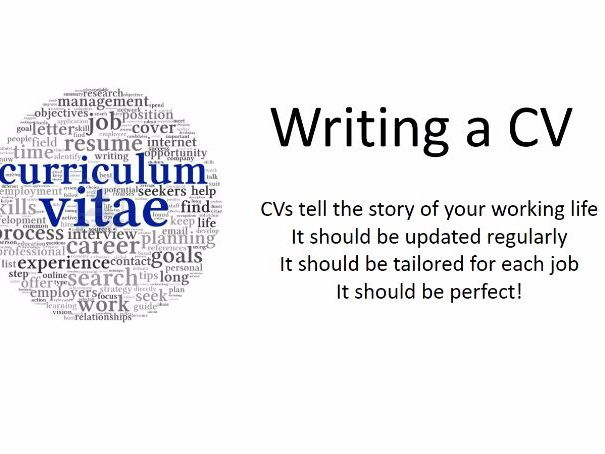 Yr 12 Tutor Session - CV Writing