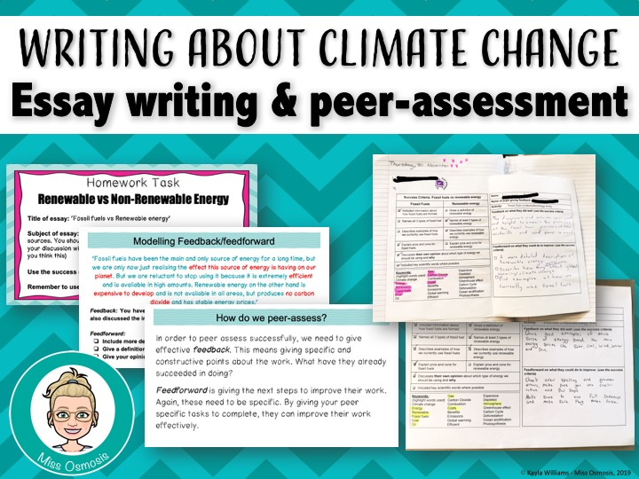 Climate Change Essay: Peer Assessment Lesson