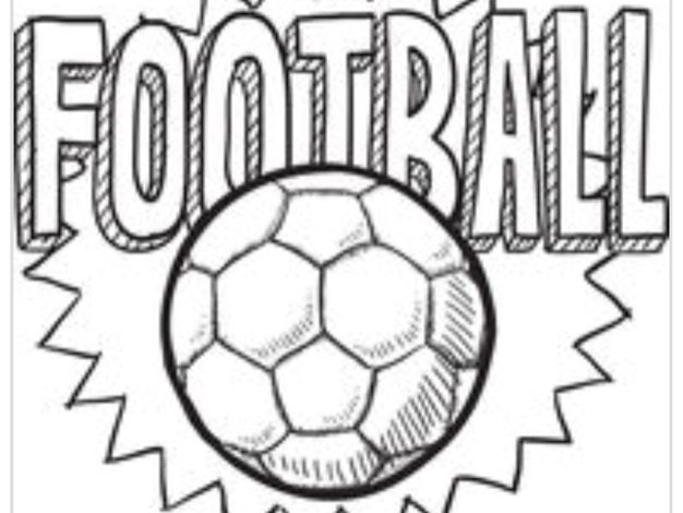 Football Colouring and Spellings Worksheet
