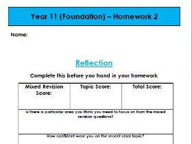 HCF and LCM - Edexcel KS3/KS4 Homework (Foundation)