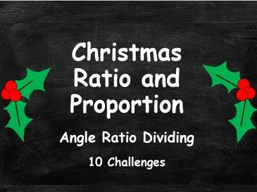 Christmas Ratio and Proportion. Angle Ratio Dividing. Circles. FULL SET