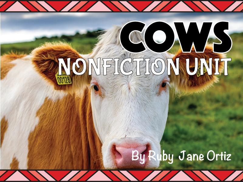 All About Cows Nonfiction Unit