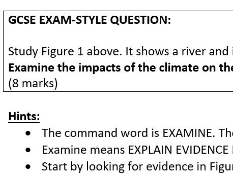 """Examine"" 8-mark rivers question task"