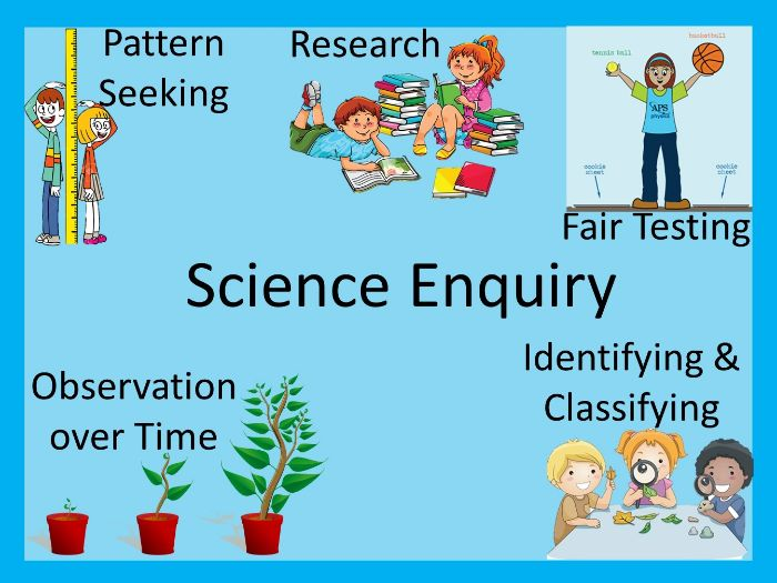 five types of science enquiry by paultyler teaching resources tes