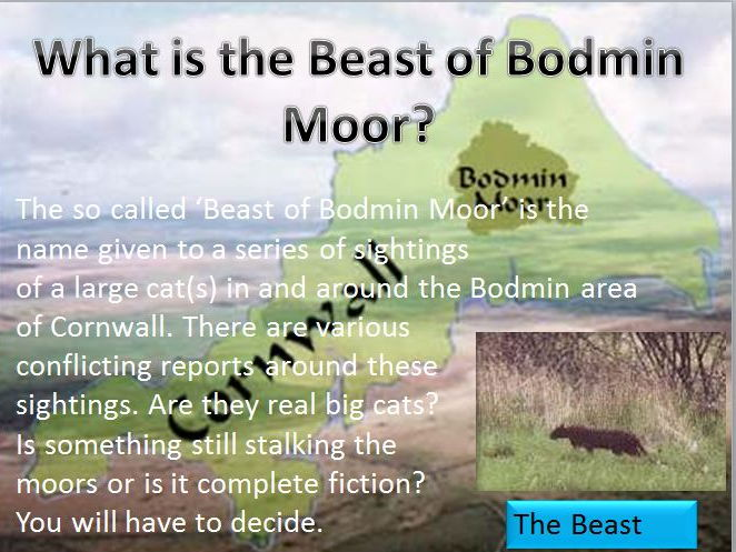 The Beast of Bodmin Moor - Team Investigation Lesson