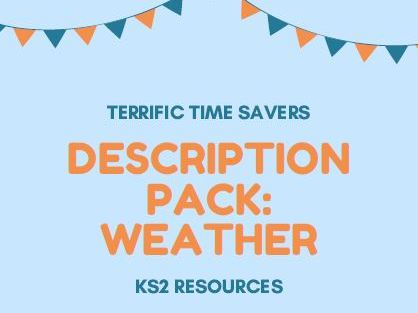Describing the weather - word mats