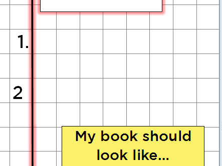 Maths book expectations poster - what my book should look like