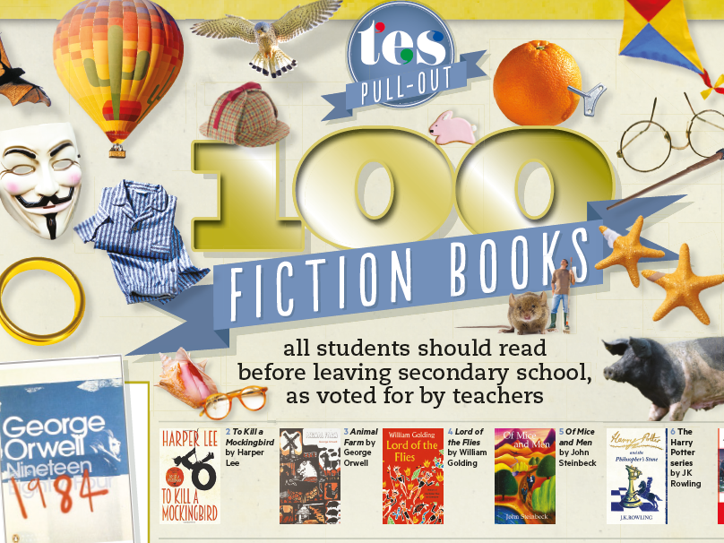 100 fiction books all students should read before leaving secondary school
