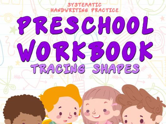 Preschool Workbook. Tracing Shapes