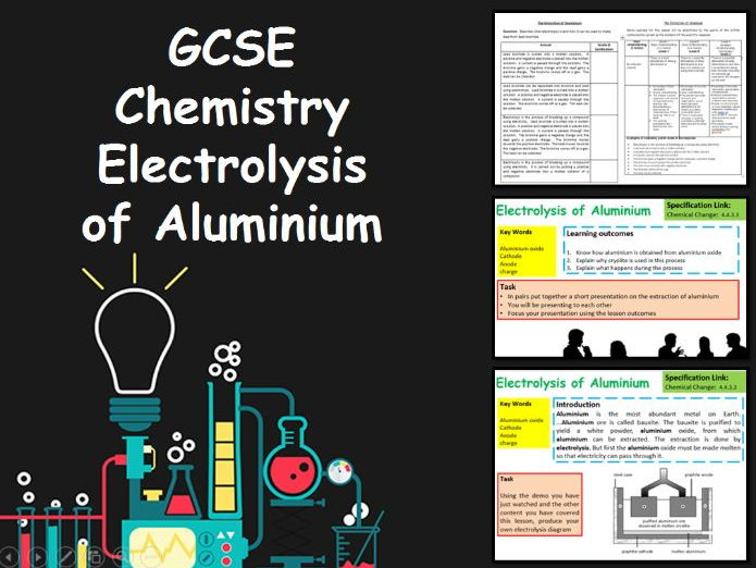 New KS4 Chemistry GCSE Electrolysis of Aluminium Lesson
