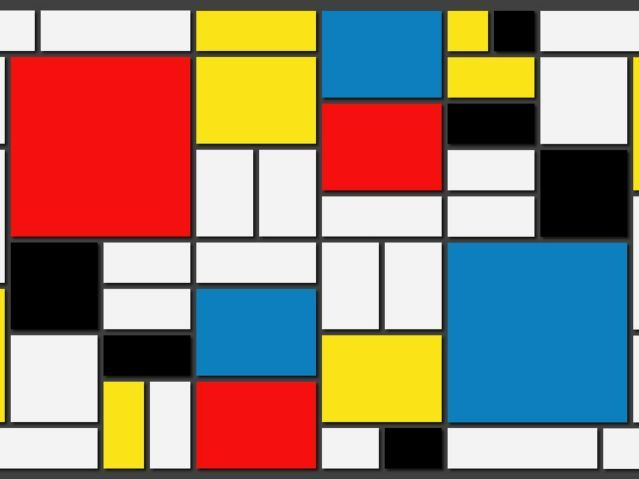 Primary and Secondary Colours and Piet Mondrian KS1 Art