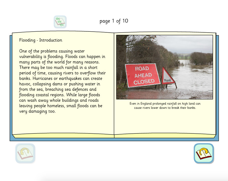 Flooding Interactive Information Book - KS2 Literacy