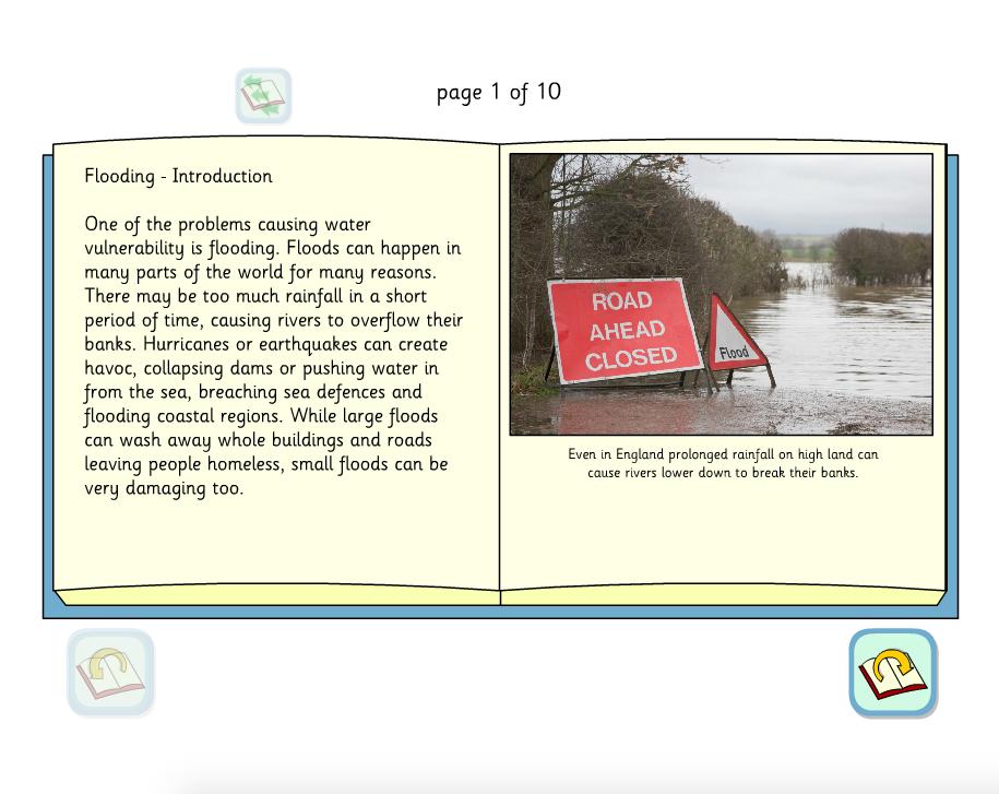 Flooding Interactive Information Book - KS2 Literacy