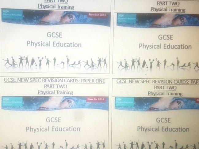 AQA GCSE PE Revision Cards for Paper 1 (Part 2)