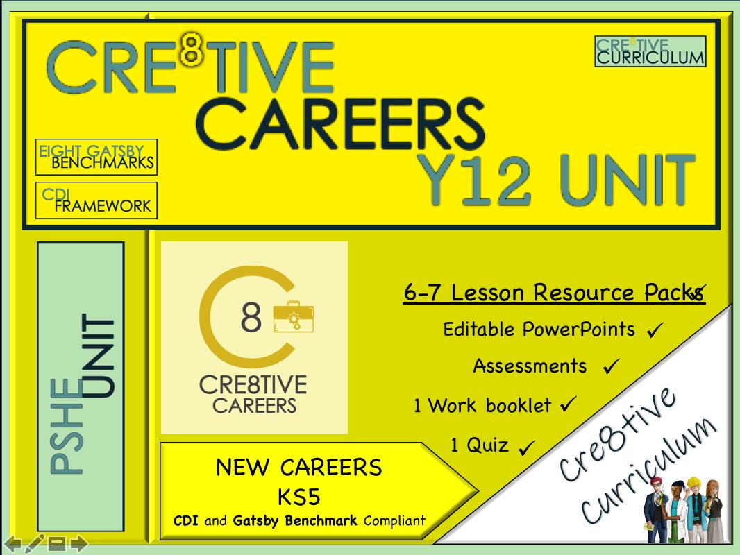 Y12 Cre8tive Careers Unit CDI Framework Gatsby Benchmark