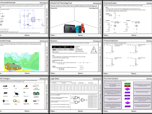 GCSE Design & Technology Homework booklet