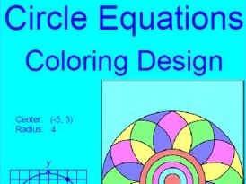 CIRCLES:  EQUATIONS OF CIRCLES COLORING ACTIVITY # 1