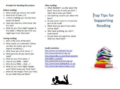 Tips for supporting reading