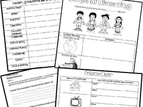GCSE EDUQAS C1 Key Concepts Revision Booklet with exam questions
