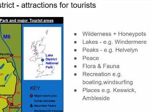 AQA Geography Lake District tourism