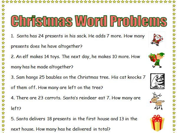 Printables Christmas Subtraction Problems christmas maths bundle ks1 ks2 word problems investigations by stephenrogers teaching resources tes