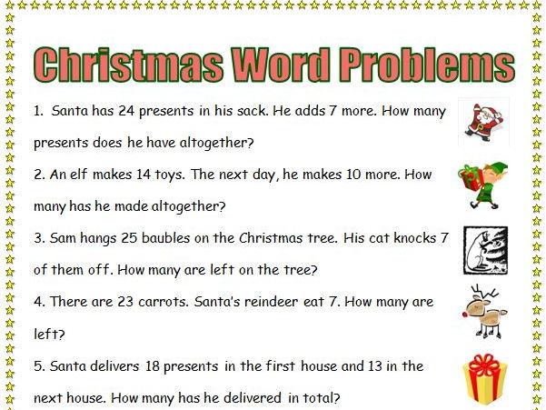 Christmas Maths bundle KS1 KS2 word problems investigations by ...