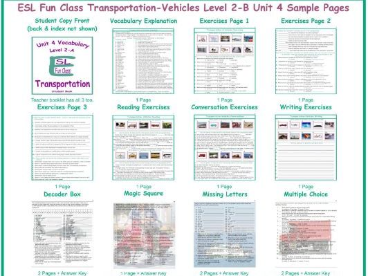 Transportation-Vehicles Level 2-B Unit 4