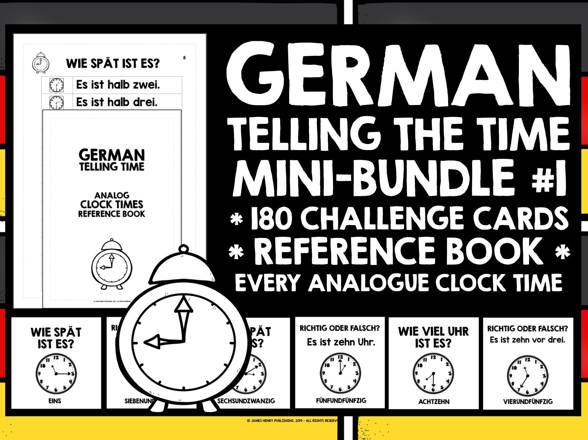GERMAN TELLING TIME MINI-BUNDLE #1